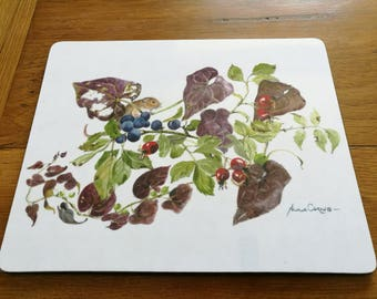 Placemat, Autumn Print - Afternoon Tea - 23.5cm x 19cm  (9.5 x 7.5 inches)