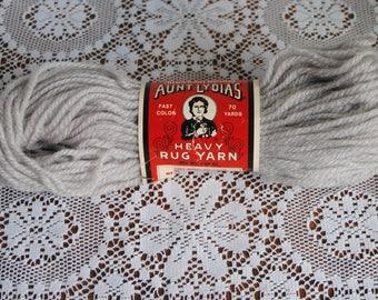 Vintage Aunt Lydia's Heavy Rug Yarn 70 Yards 810 Steel Gray