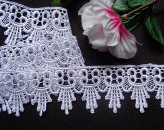 "2"" White Venice Lace Trim - Venise Lace  selling by the yard"