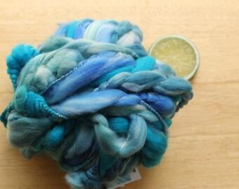 Undertow Coils - Super Bulky Handspun Superwash Merino Wool Coiled Art Yarn