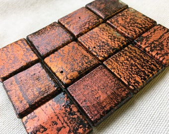 Orange & Black Glass Tiles