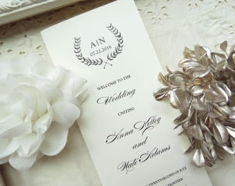 Wedding Programs  |  Instant Download PDF - Printable Wedding Programs |  Wedding Program |  Folded  |  Branches Collection Style 04