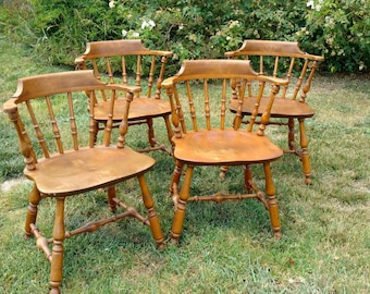 Captain Chairs Vintage Kitchen Chairs Vintage Dining Chairs Set Of 4  Nichols U0026 Stone Co.