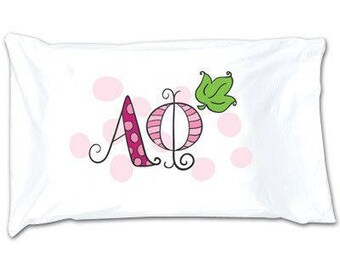 Alpha Phi Sorority Mascot Pillowcase, Alpha Phi Pillow Case, Sale, Stocking Stuffer
