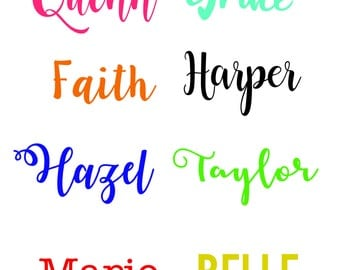 Name Decal // Vinyl Decal // Custo Decal // Monogram // Personalized