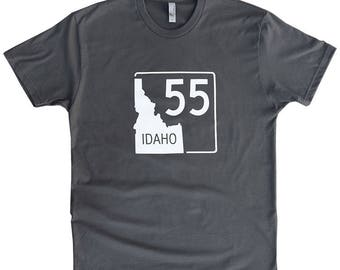 BANANA ink Idaho Highway 55 Tee