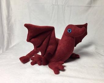 Red Baby Dragon Beanbag