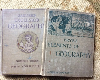 Vintage Geography Textbooks