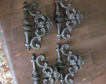 Lot of 8 Vintage cast metal Drawer Pulls