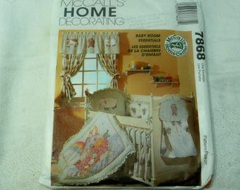 McCalls Home Decorating Sewing Pattern 7868, Noah's Ark Nursery