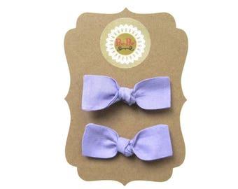 Lavender Bow, Infant Hair Bows Toddler Hairbands, Lavender Hair Clips, Baby Hairband, Baby Girl Clip Bows, Toddler Clip Bow, Ready To Ship