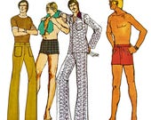 Vintage RETRO Creative Patterns 1970's Instructional Sewing Booklet and Pattern: Shorts and Pants for Men E4
