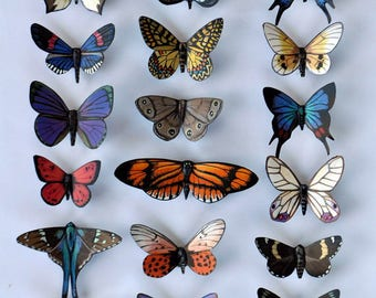 Butterfly Magnets Set of 18 Multi Color Insects Kitchen Magnets Refrigerator Magnets Kitchen Decor Home Decor Gifts Butterfly Wedding