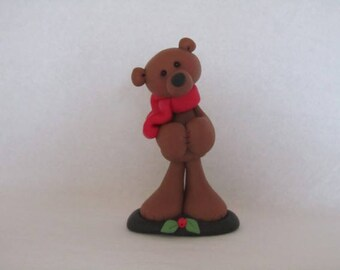Whimsical Christmas Bear Figurine