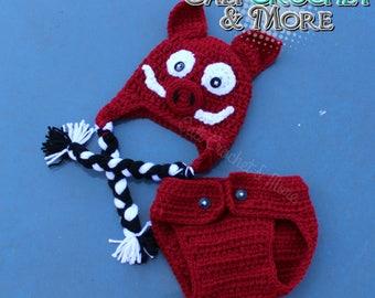 Arkansas Razorbacks Crochet ***HAT ONLY***