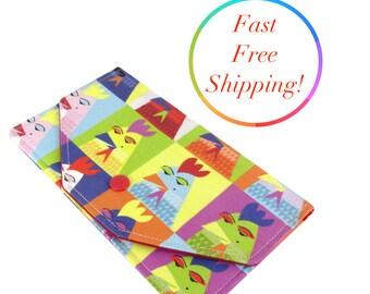 Pop Art Chicken Wallet, Envelope Clutch, Budget Envelopes, Budget Wallet, Cash Envelope System, Fabric Envelope, Simple Wallet