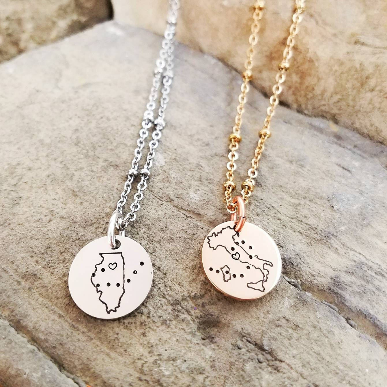 best friend necklaces long distance friendship jewelry best