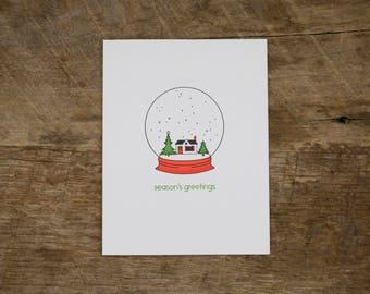 Snow Globe Holiday Card