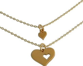 SALE gold mother daughter Charm Necklace