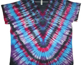 Tie Dyed US Size 3XL Fine Jersey Longer Length T-Shirt