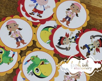 READY TO SHIP Jake and the Neverland Pirates Stickers