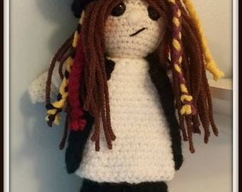 On Sale Boy George Doll Rockstar Doll Popstar Doll Gift Approximately 10 inches tall Amigurumi Handmade Crochet Made to Order