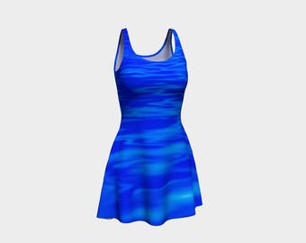 Chic Blue Flared Dress that will make you the hit of any Gala! - 35