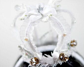 White Queen Crown-Princess Crown-White-Girl Accessories-Costume lolita Crown-Snow Queen-Lolita-Harajuku-Girl Headband-Birthday Headband