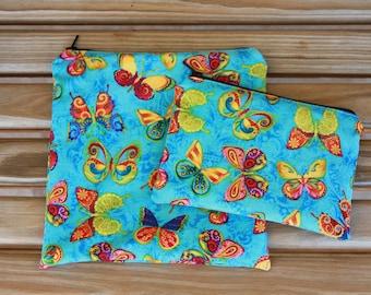 Reusable Sandwich Bag Combo, Butterfly - Zipper Sandwich Bag and Zipper Snack Bag