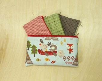 Kids Cash Envelope Wallet, Kids Cash Budget System, Give, Save, Spend -Woodlands Friends- for use with the Dave Ramsey System, READY to SHIP