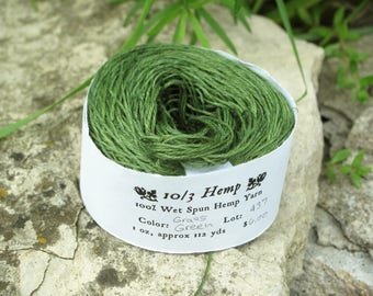 Grass Green 10/3 Hemp Yarn