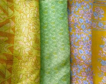 Fat Quarters, Silk Fabric, Sari Silk, FQ 183