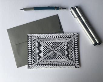 Any Occasion Card- Black and White Stationery, Blank Flat Cards, Any Occasion, Stationery Set