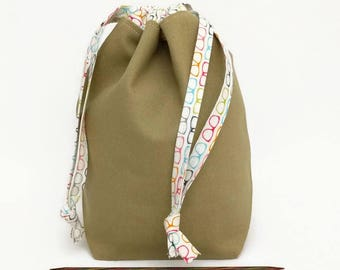 Sock Draw Reversible Canvas Bag - Smarty Cats