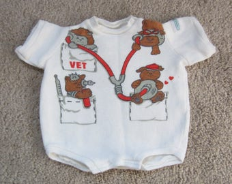 Cabbage Patch Doll Clothes Vet Onesie Vintage 1984