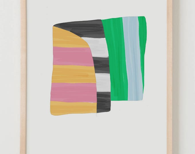 Fine Art Print.  Stripe Study Wide, October 3, 2017.