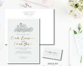 Dallas Scenes Wedding Invitations