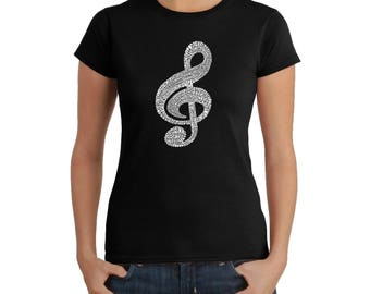 Women's T-shirt - Created Using a List of the Most Popular Classical Music Composers of All Time Note