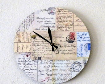 Wall Clock, Shabby Chic  Wall Clock, Home Decor, Decor and Housewares, Spring Decor, Home and Living, Homespunsociety