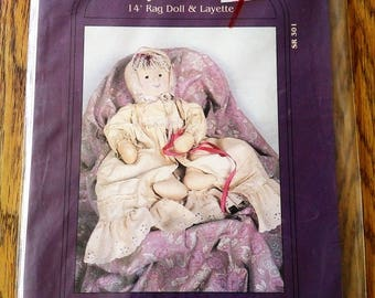"""My Sister and I Patterns, Baby Alissa Ann, 14"""" Rag Doll & Layette Pattern"""