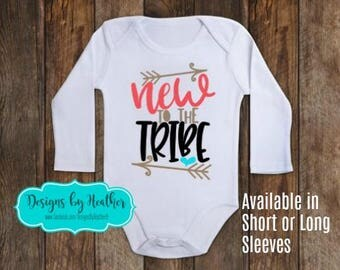 Baby Shirt - Customized Bodysuit - Baby Shower Gift -  Baby Shirt - Custom Baby Gift - New to the Tribe - New Baby