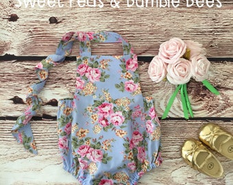 Baby Summertime Romper - Pale Blue