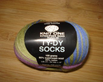 NWT Knit One Crochet Two Ty-Dy Sock Yarn – 1 Skein – #1508