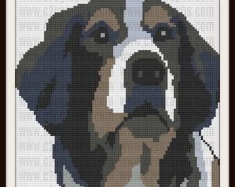 Australian Shepherd Afghan, C2C Graph, Crochet Pattern, Dog C2C Graph