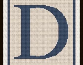 C2C Graph, Letter D, Twin Size, C2C Graph, & Written Word Chart