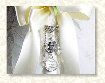 Bridal Bouquet Charm, Photo Charm, Wedding Bouquet Memory Charm, Wedding Bouquet Jewelry, Ring Bearer Pillow, Boutonniere Charm, 1-6 charms