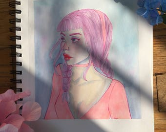 Pink Hair Beauty