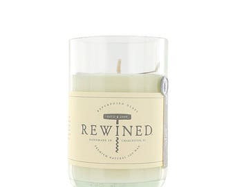 Rewined - Rosé - Repurposed Wine Bottle - Soy Wax Candle