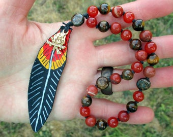 Loki Pagan Prayer Beads  / Mini Mala / Mini Rosary - Norse Trickster / Norse prayer beads