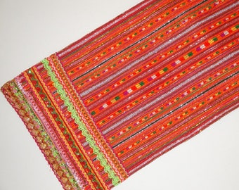 SPECIAL - Vintage Hmong Textile - Hand made Embroidered Cross stitches - DIY Project - Bohemian Decor - Wall decor